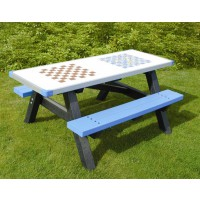 British Recycled Plastic - Otley Activity Picnic Table